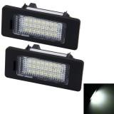 2 PCS License Plate Light with 24 SMD-3528 Lamps for BMW E82/E88/E90/E92/E93/E39 (White Light)