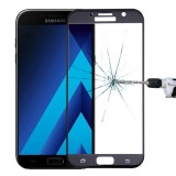 For Samsung Galaxy A7 (2017) / A720 0.26mm 9H Surface Hardness Explosion-proof Silk-screen Tempered Glass Curved Full Screen Film (Black)