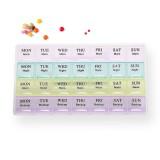 KCASA KC-JS2801 Travel Monthly Pill Organizer 28 Tablets Box Travel Medicine Storage Case