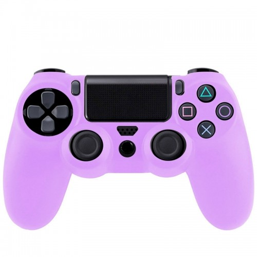 Flexible Silicone Protective Case for Sony PS4 Game Controller (Purple)