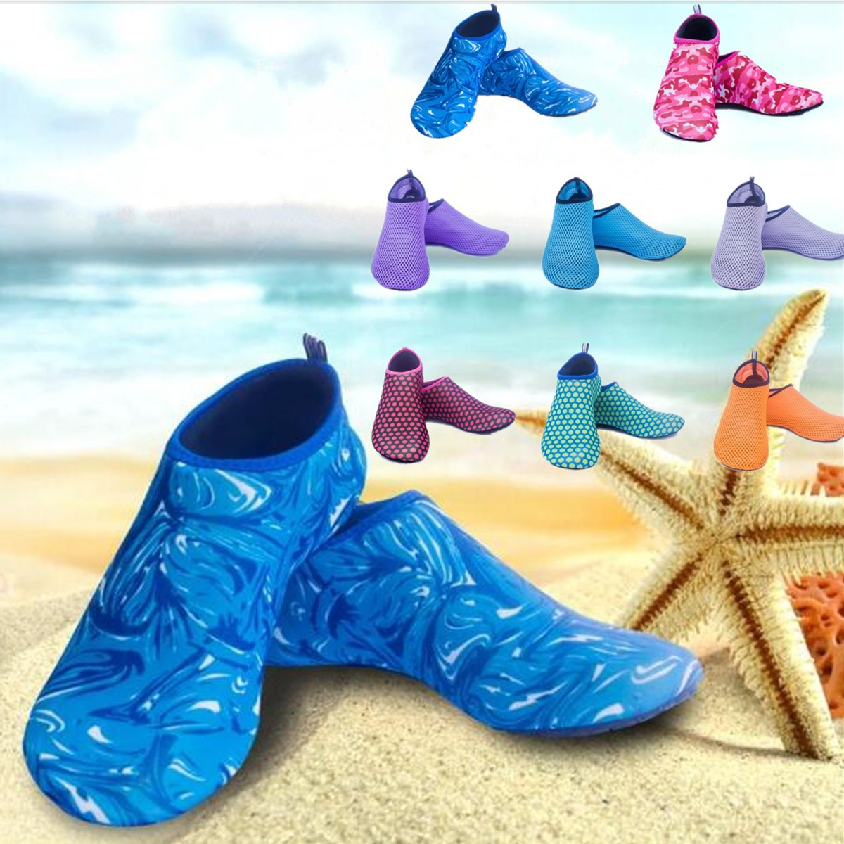 Nonslip Surf Water Beach Shoes Soft Mesh Socks Swim Diving Pool Yoga Exercise Footwear Alex Nld