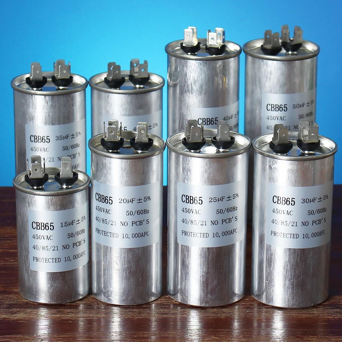 15 50uf Motor Capacitor Cbb65 450vac Air Conditioner