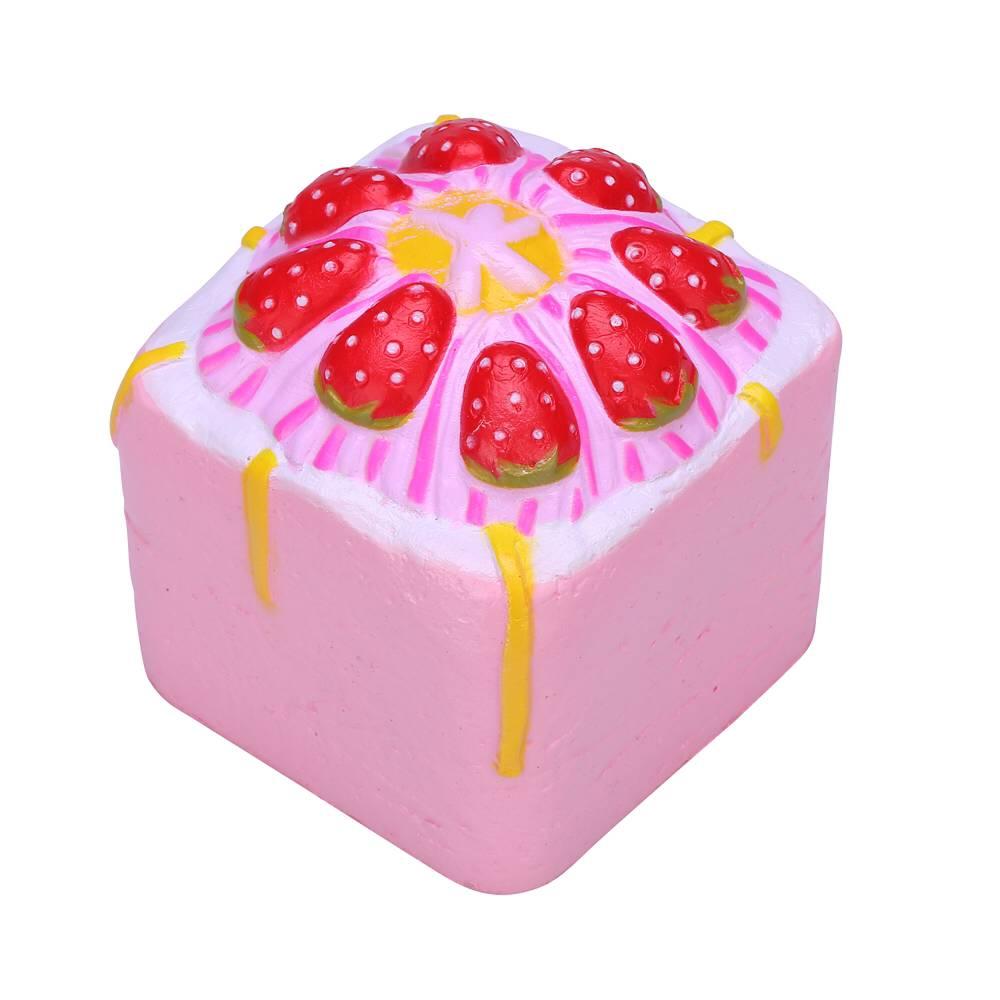Squishy Cupcake : Vlampo Squishy Jumbo Strawberry Cake Bakery Cupcake Cube Slow Rising Original Packaging ...