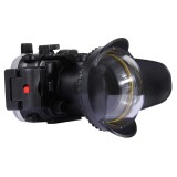 PULUZ Optical Fisheye Lens Shade Wide Angle Dome Port Lens for Underwater Housings (67mm Round Adapter) , 60m Underwater Depth