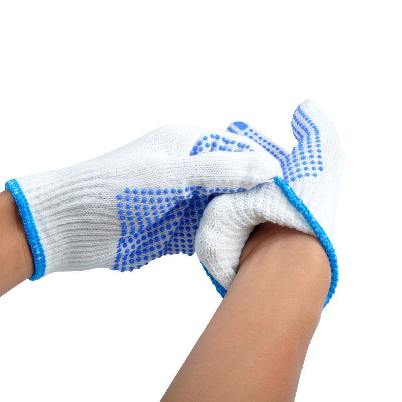 1Pair Labour Protection Anti Skid Wear Resistant Gloves Plastic Dot Gloves Light