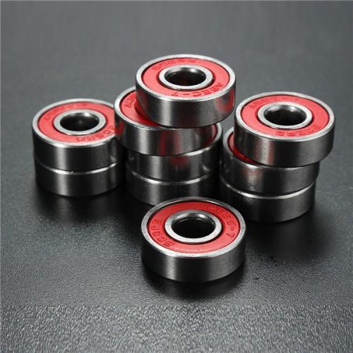 10pcs ABEC-7 Red Sealed Deep Groove Skateboard Ball Bearing 608RS 9x22x6mm Ball Bearing