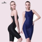 SBART Shark Leather Womens Swimsuits Siamese Angle Professional Sports Swimwear F8005 with Chest Pad