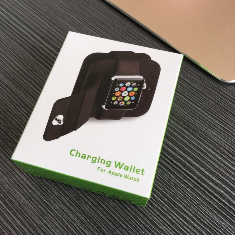 For Apple Watch 38mm & 42mm (Series 1 & 2) Cable Organizing Charging Dock Station Soft Silicone Protective Case, Charging Cable is not Included (Black)