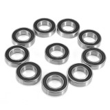 10pcs 6902RS 15mmx28mmx7mm Deep Groove Metal Rubber Shielded Sealed Ball Bearings