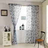 Honana 1x2m Fashion Butterfly Voile Door Curtain Panel Window Room Divider Sheer Curtain Home Decor