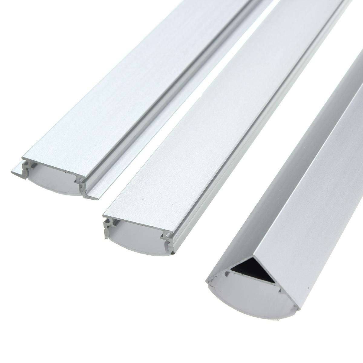 1x 5x 10x Lustreon 50cm Aluminum Channel Holder For Led: 30CM Aluminum Channel Holder For LED Rigid Strip Light Bar