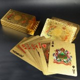 Creative Frosted Golden Dragon and Phoenix Back Texture Plastic From Vegas to Macau Playing Cards Texas Poker