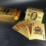 Creative Frosted Mosaic Gold Dollar Back Texture Plastic From Vegas to Macau Playing Cards Texas Poker