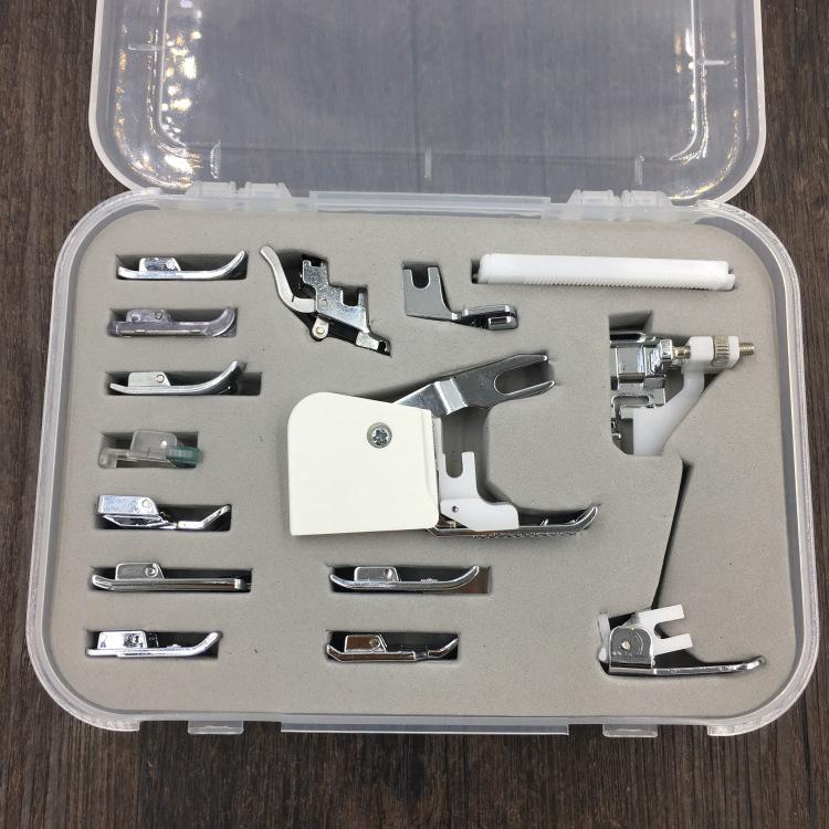 Loskii 15pcs Domestic Sewing Machine Foot Presser Feet Kit