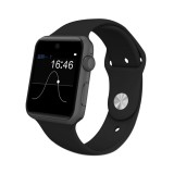 DOMINO DM09 1.54 inch IPS Full View Full Fitting Capacitive Touch Screen MTK2502C-ARM7 Bluetooth 4.0 Smart Watch Phone, Support GSM / Smart Knob / Raise to Bright Screen / Flip Hand to Switch Interface / 3D Acceleration / Pedometer Analysis / Sedentary Reminder / Sleep Monitor / Anti-lost / Remote Camera, 128MB+64MB (Black)