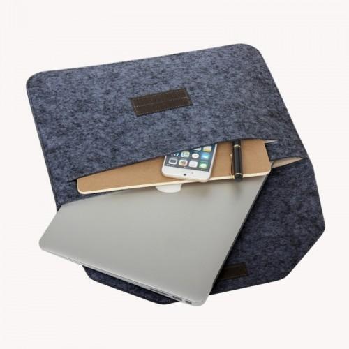 11.6 inch Universal Fashion Soft Sleeve Bag Case Tablet Laptop Felt Bag for MacBook Air 11.6 inch, 33x22x1cm (Black)