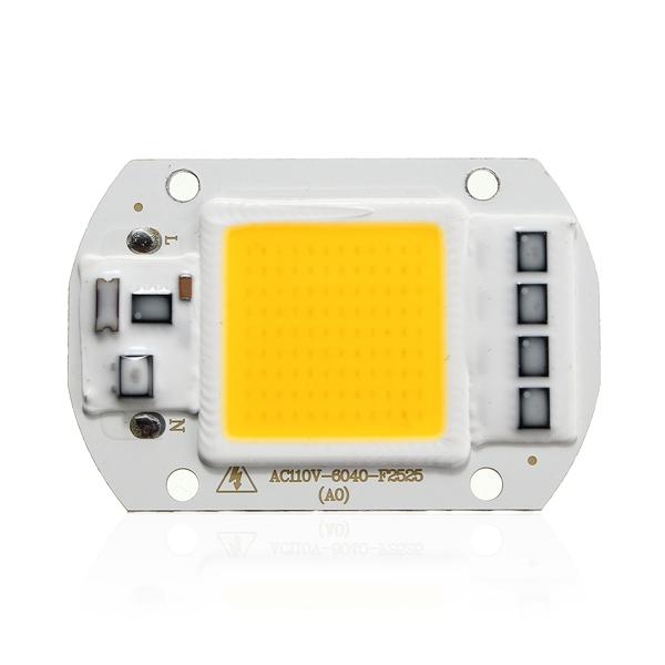 50W 4200LM Warm/White DIY COB LED Chip Bulb Bead 60x40mm For Flood Light AC110/220V