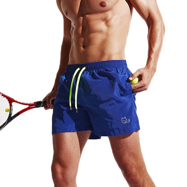 Summer Colorful Quick-drying Tennis Shorts Mens Fashion Light Weight Drawstring Sports Boxer Shorts