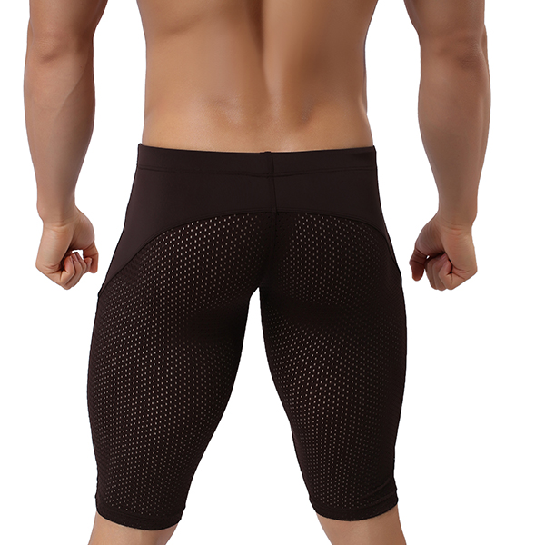Summer Sports Breathable Quick-drying Swimming Gym Fitness Tight Shorts Middle Pants