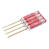 4Pcs AZLRC ONERC Hex Driver HSS titanium H1.5/H2.0/H2.5/H3 Tool Set Red