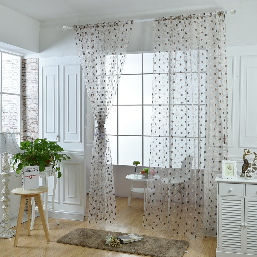 Honana 1x2m Fashion Bird Nest Voile Door Curtain Panel