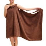 Honana BX-949 Microfiber Soft Magic Able Wear Spa Bath Robe Plush Highly Absorbent Bath Towel Skirt