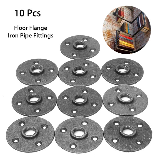 10pcs 1 2 inch malleable iron floor flange steel iron pipe for 1 5 inch floor flange