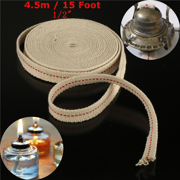 1 2 Inch Flat Cotton Wick 15 Foot Oil Lamps And Lanterns Cotton Wick 4 5m Length Alexnld Com