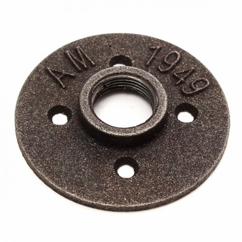 Inch black malleable iron floor flange fitting pipe