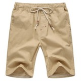 8 Colors Mens Leisure Elastic Waist Shorts Pants Pure Color Beach Sports Shorts