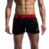 Mens Mesh Underwear Shorts Leisure Fashion Running Fitness Elastic Waist Drawstring Sports Shorts