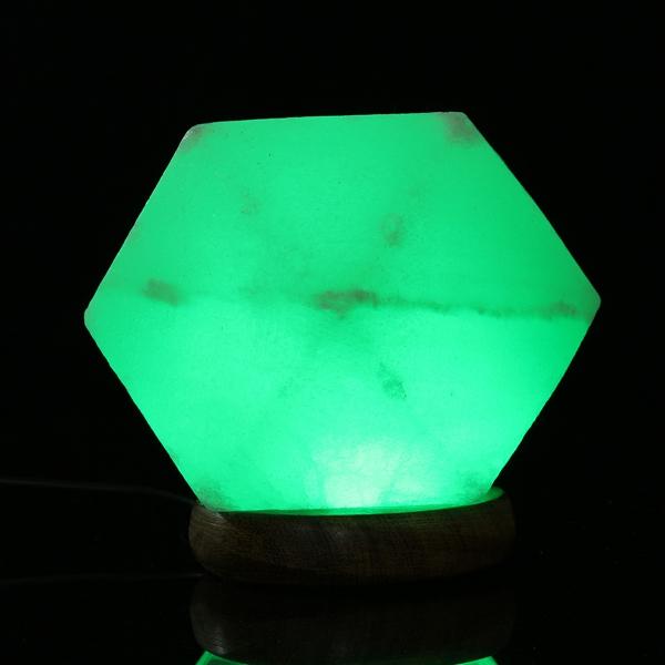 Natural Crystal Rock USB Salt Lamp Colorful LED Night Light Decor Alex NLD