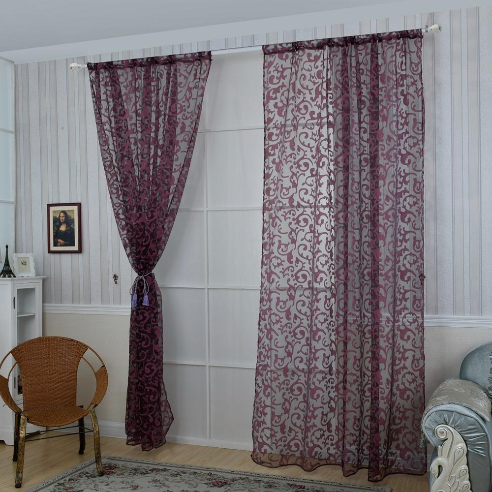 Honana 1x2m fashion european style voile door window for European inspired home decor
