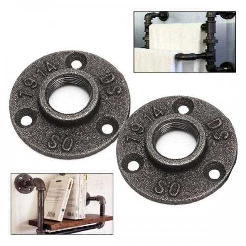 Or inch black flange iron pipe floor fitting