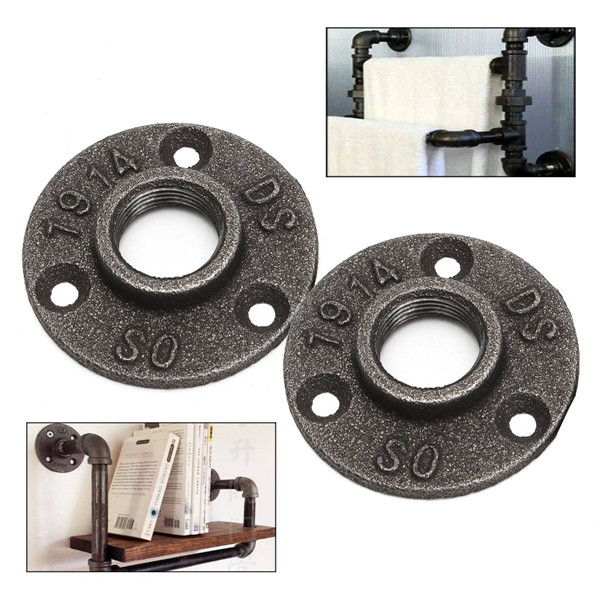 1 2 or 3 4 inch black flange iron pipe floor fitting for 1 in black malleable iron threaded floor flange