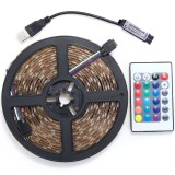 0.5/1/2/3/4/5M RGB SMD5050 Waterproof LED Strip Light TV Back Lighting Kit + USB Remote Control DC5V