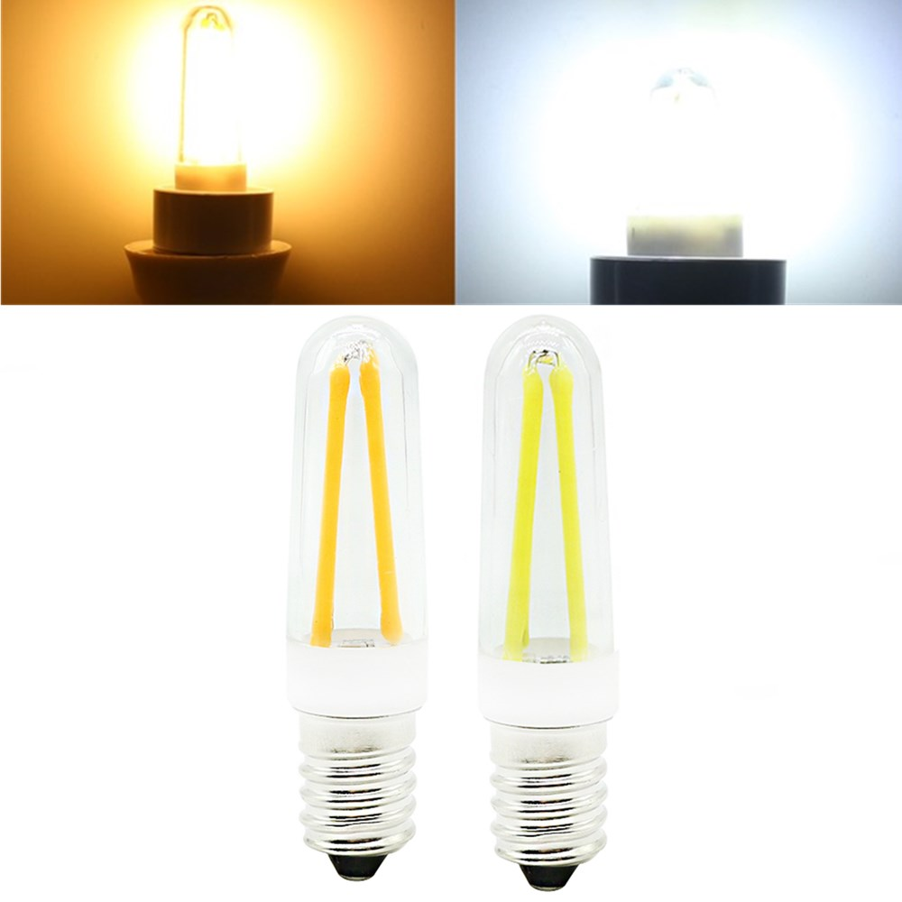 mini dimmable e14 4w cob led filament lamp light bulb replace halogen lamp ac110v 220v. Black Bedroom Furniture Sets. Home Design Ideas