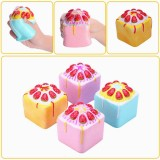 Vlampo Squishy Jumbo Strawberry Cake Bakery Cupcake Cube Slow Rising Original Packaging Collection Toy Gift