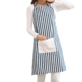 Honana KT-AP1 Adjustable Bib Apron Kitchen Cooking Woman Man Stripe Linen Apron With Pocket