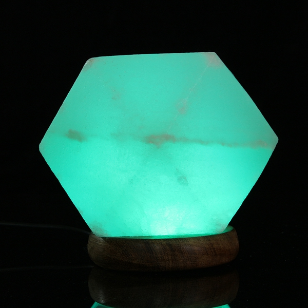 Salt Lamp Led Light : Natural Crystal Rock USB Salt Lamp Colorful LED Night Light Decor Alex NLD