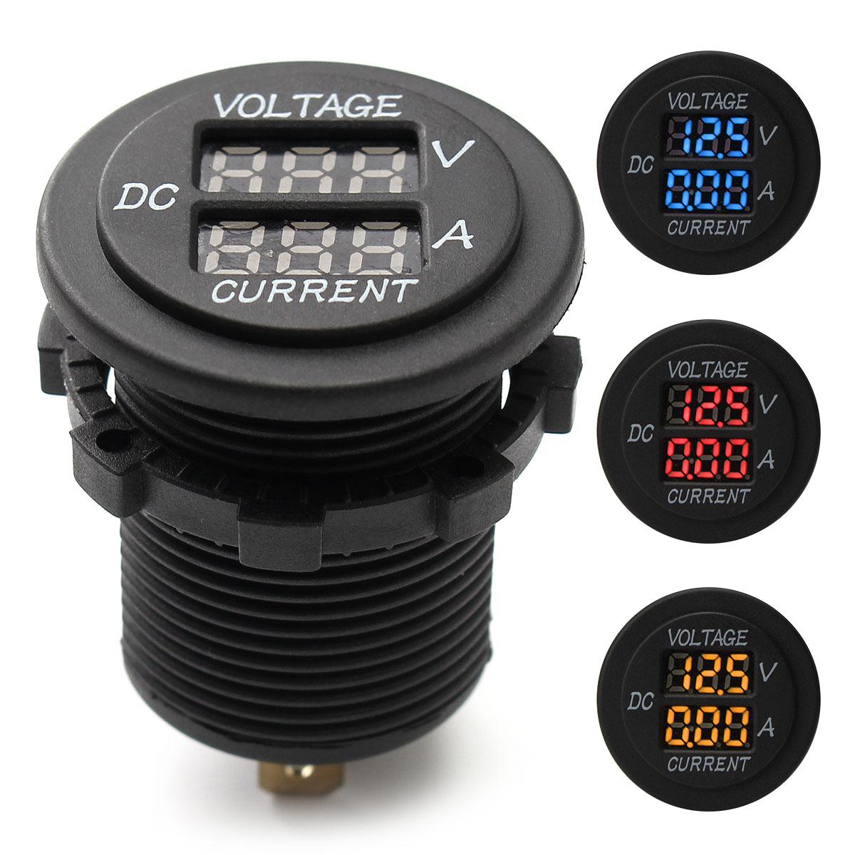 Digital Voltage Meter For Car : Car dc v voltmeter ammeter led display digital