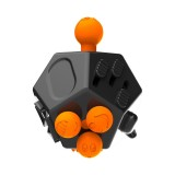 12 Sides Fidget Cube Generation 2 Decompression Toy Desk Magic Dice Funny Relieves Anxiety and Stress Toys Creative Gift for Adults and Children (Black)
