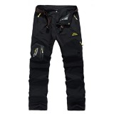 Mens Outdoor Detachable Quick-drying Sport Pants Casual Breathable Climbing Trousers