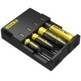 Nitecore i4 Intelligent Digi Smart Charger for 14500, 16340 (RCR123), 18650, 22650, 26650, Ni-MH and Ni-Cd (AA, AAA) Battery, US Plug