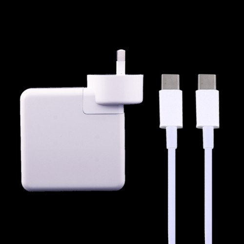 61W USB Type-C Power Adapter with 2m USB Type-C Male to USB Type-C Male Charging Cable for MacBook, Nokia, Google, HTC, Huawei, Xiaomi, Lenovo, Meizu, Letv, OnePlus, AU Plug