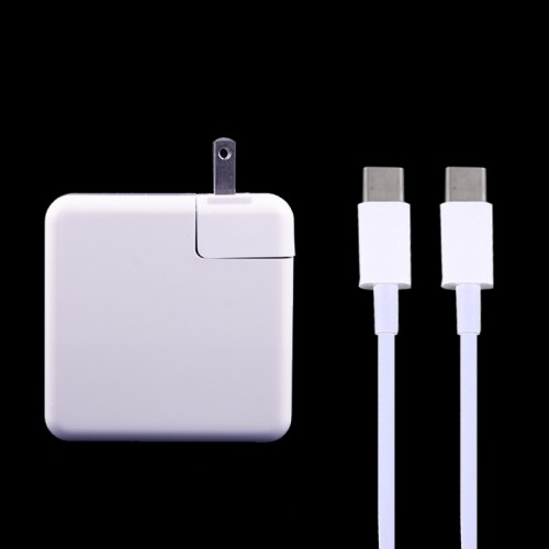 87W USB Type-C Power Adapter with 2m USB Type-C Male to USB Type-C Male Charging Cable for MacBook, Nokia, Google, HTC, Huawei, Xiaomi, Lenovo, Meizu, Letv, OnePlus, US Plug