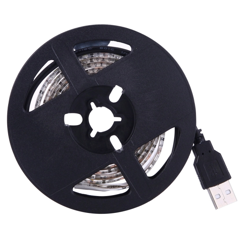 4.8W 60 LEDs SMD 3528 USB TV White Board Epoxy Rope Light with 50cm USB Interface Cable, Length: 1m, DC 5V (White Light)