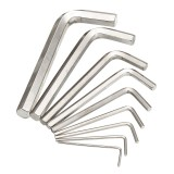 8Pcs Metric Combination Hex Key Allen Wrench Set 1.5mm to 10mm Key Hand Tool
