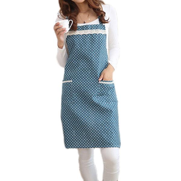 Honana KT-AP1 Adjustable Bib Apron Kitchen Cooking Woman Man Stripe Linen Apron With Pocket