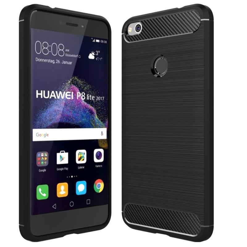Huawei P8 Lite 2017 Brushed Carbon Fiber Texture